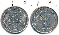 Изображение Монеты Западно-Африканский Союз 50 франков 2009 Медно-никель XF