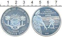 Изображение Монеты Кот-д`Ивуар 10 франков 2007 Серебро Proof-