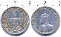 Изображение Монеты Германия Немецкая Африка 1/4 рупии 1913 Серебро XF