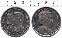 Изображение Монеты Британско - Индийские океанские территории 2 фунта 2011 Медно-никель UNC Бракосочетание Вилья