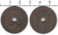 Изображение Монеты Родезия 1 пенни 1957 Медь XF Елизавета II