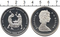 Изображение Монеты Канада 1 доллар 1988 Серебро Proof- Елизавета II. Кузнец