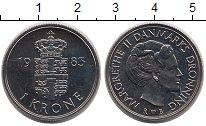 Изображение Монеты Дания 1 крона 1983 Медно-никель UNC