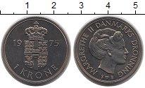 Изображение Монеты Дания 1 крона 1975 Медно-никель UNC
