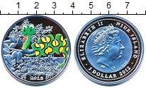 Изображение Монеты Ниуэ 1 доллар 2012 Серебро Proof Елизавета II.  Цветн