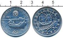 Изображение Монеты Мальта 2 фунта 1981 Серебро XF Всемирный  день  про