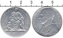 Изображение Монеты Ватикан 10 лир 1947 Алюминий UNC- Понтифик  Пий XII.