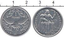 Изображение Монеты Новая Каледония 1 франк 1988 Алюминий XF Протекторат  Франции