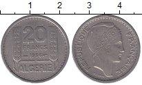 Изображение Мелочь Алжир 20 франков 1949 Медно-никель XF