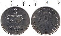 Изображение Монеты Норвегия 1 крона 1988 Медно-никель UNC Олаф V.