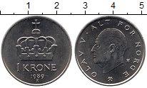 Изображение Монеты Норвегия 1 крона 1989 Медно-никель UNC