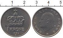 Изображение Монеты Норвегия 1 крона 1990 Медно-никель UNC