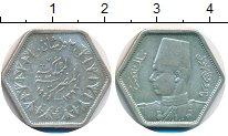 Изображение Монеты Египет 2 пиастра 1944 Серебро XF Фарук I