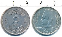 Изображение Монеты Египет 5 миллим 1941 Медно-никель XF