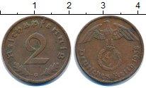 Изображение Монеты Третий Рейх 2 пфеннига 1938 Бронза XF G