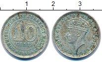 Изображение Монеты Великобритания Малайя 10 центов 1945 Серебро XF