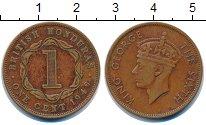Изображение Монеты Белиз 1 цент 1949 Бронза XF Колония Британский Г