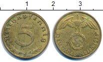 Изображение Монеты Третий Рейх 5 пфеннигов 1938 Латунь XF J