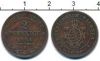 Изображение Монеты Саксония 2 пфеннига 1864 Медь XF