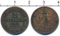 Изображение Монеты Германия Саксония 2 пфеннига 1862 Медь VF