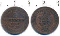 Изображение Монеты Саксония 2 пфеннига 1868 Медь VF