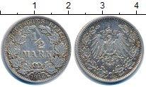 Изображение Монеты Германия 1/2 марки 1916 Серебро XF А