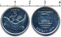 Изображение Монеты Кирибати 5 центов 1979 Медно-никель UNC- ящерица