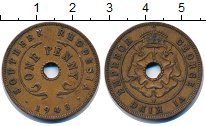 Изображение Монеты Родезия 1 пенни 1943 Бронза XF