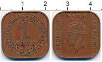 Изображение Монеты Малайя 1 цент 1940 Бронза XF