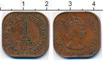 Изображение Монеты Малайя 1 цент 1957 Бронза XF
