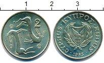 Изображение Монеты Кипр 2 цента 1983 Латунь UNC-