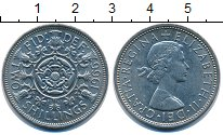 Изображение Монеты Великобритания 2 шиллинга 1966 Медно-никель UNC-