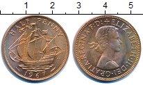 Изображение Монеты Великобритания 1/2 пенни 1967 Бронза UNC-