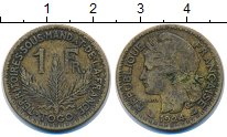 Изображение Монеты Того 1 франк 1924 Латунь VF