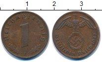 Изображение Монеты Третий Рейх 1 пфенниг 1940 Бронза XF