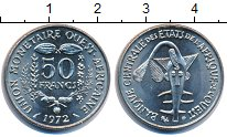 Изображение Монеты Западная Африка 50 франков 1972 Медно-никель UNC- ФАО