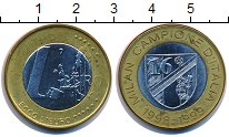 Изображение Монеты Италия 1 евро 1999 Биметалл UNC- UNUSUAL.