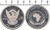 Изображение Монеты Судан 10 фунтов 1978 Серебро Proof