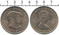 Изображение Монеты Остров Джерси 2 фунта 1981 Медно-никель XF