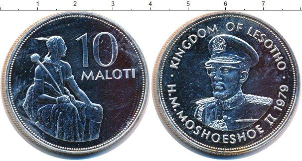 Картинка Монеты Лесото 10 малоти Серебро 1979