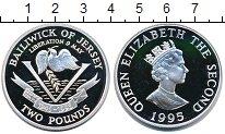 Изображение Монеты Остров Джерси 2 фунта 1995 Серебро Proof