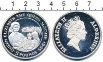 Изображение Монеты Великобритания Олдерни 5 фунтов 1995 Серебро Proof-