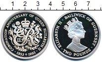 Изображение Монеты Гернси 2 фунта 1993 Серебро UNC Елизавета II.  40 -