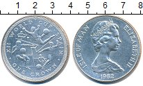 Изображение Монеты Остров Мэн 1 крона 1982 Медно-никель UNC