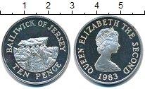 Изображение Монеты Остров Джерси 10 пенсов 1983 Серебро UNC