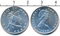 Изображение Монеты Остров Мэн 1 пенни 1978 Серебро Proof-