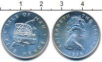 Изображение Монеты Остров Мэн 5 пенсов 1978 Серебро Proof- Елизавета II. Водяно
