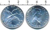 Изображение Монеты Остров Мэн 2 пенса 1978 Серебро UNC