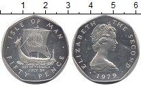 Изображение Монеты Остров Мэн 50 пенсов 1979 Серебро UNC