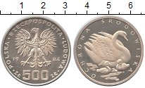 Изображение Монеты Польша 500 злотых 1984 Серебро UNC- Охрана окружающей ср